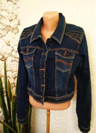 Джинсовый пиджак, джинсовка. 1+1= 50% скидки на 3ю вещь.