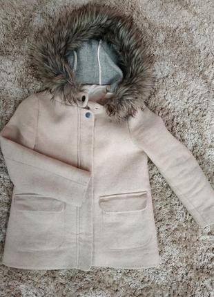 Пальто zara розмір 9/10 років 140см