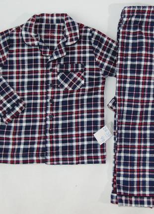 Байковая пижама на 2-3 года 98 см primark англия