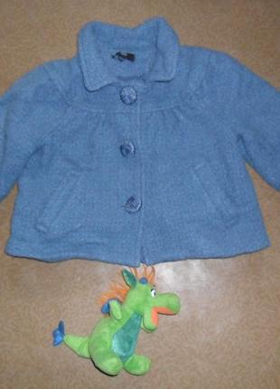 Стильное пальто,укороченный рукав