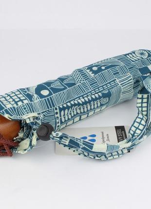 Маленький механический зонт silver rain 02-1 синий, абстракция