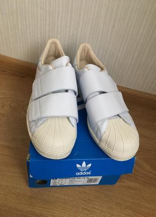 Белые кеды adidas(original)