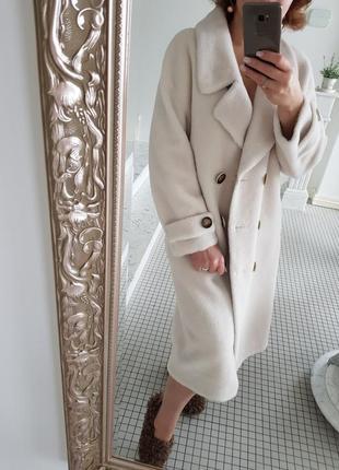 Крутейшая моднейшая шуба пальто натуральная овчина max маrа оверсайз