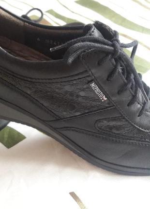 Шикарные туфли из  кожаные кроссовки mephisto m