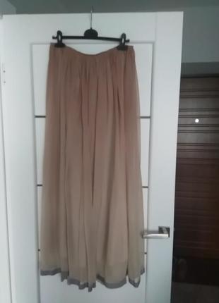 Шикарная юбка l в пол