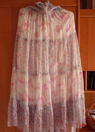 Нежное шифоновое платьице в пол