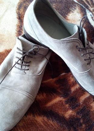 Фірмові замшеві туфлі (бомбезні)