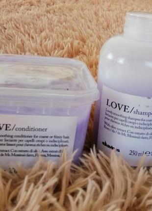 "Комплект, шампунь ""разглаживающий завиток"" davines love smoothing shampoo/conditioner"