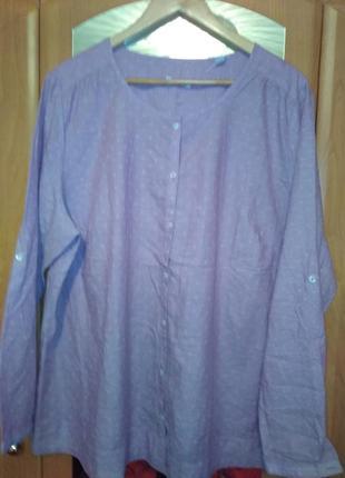 Нежная рубашка шамбре из органического хлопка тсм чибо германия, размер евро 50 (наш 56)