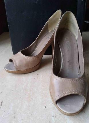 Кожаные туфли aldo размер 38 отличное состояние