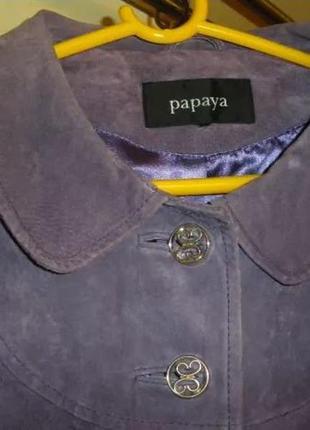 Куртка бренд papaya замшевая сиреневая болеро р. 44 - 48