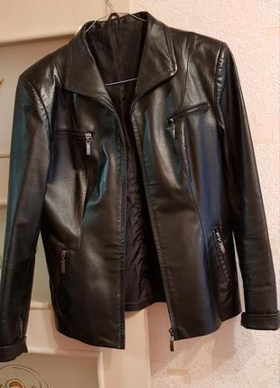 Кожаная куртка пиджак косуха натуральная кожа