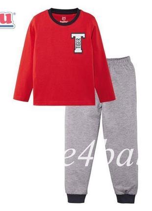 Пижама детская lupilu для мальчика 2-4 года, рост 98/104 см