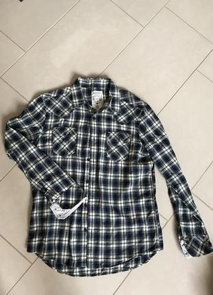 Рубашка фирменная модная стильная дорогой бренд diesel размер m-l