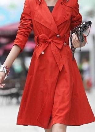 Красный плащ karen millen - оригинал1 фото