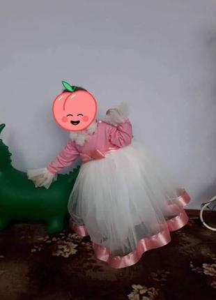 Нарядное пышное платье с фатина. теплое платьеце на праздник