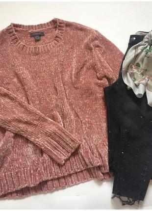 Шикарный свитер из велюровой нитки