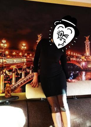 Платье миди теплое с длинным рукавом amisu вечернее )