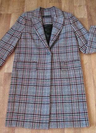 Пальто zara в клетку размер м5 фото