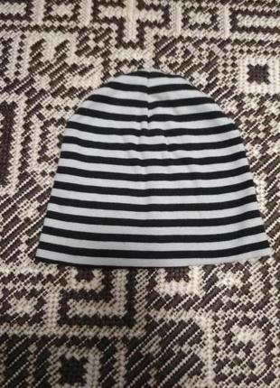 Двойная хлопковая шапка для мальчика 2-4 лет
