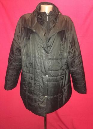 Шикарная мягкая куртка с двойным застегиванием большой размер