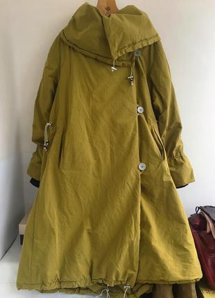 Парка плащ пальто удлинённая весенняя, на утеплителе, свободного покроя оверсайз mcverdi.