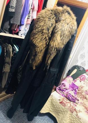 Пальто с натуральной кожи и мехом торг
