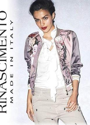 Шикарный брендовый бомбер/жакет/куртка бренд rinascimento made in italy оригинал
