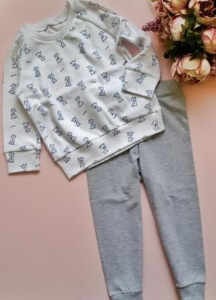 Пижама для мальчика 1,5-2 года 86-92 р. с жирафами