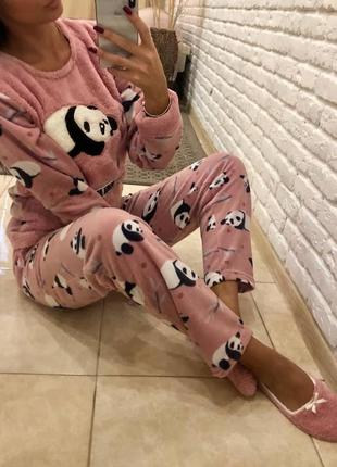 Пижама тёплая, пижама флис