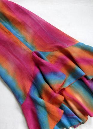 Sensa donna/итальянский льняной костюм /яркий костюм из льна с эффектом градиента 🇮🇹3