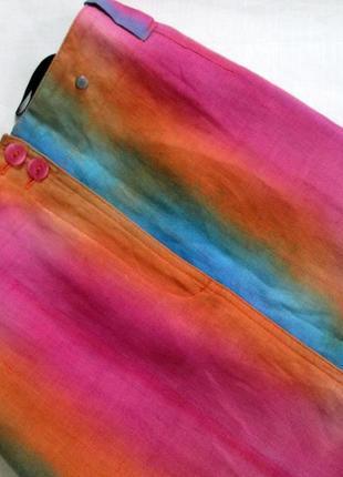 Sensa donna/итальянский льняной костюм /яркий костюм из льна с эффектом градиента 🇮🇹7