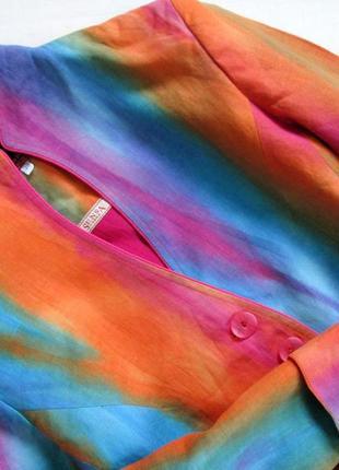 Sensa donna/итальянский льняной костюм /яркий костюм из льна с эффектом градиента 🇮🇹8