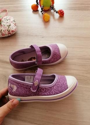 Кеды мокасины туфли туфельки принцесса софия disney 29 размер