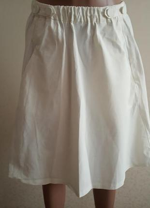 Белая юбка zara,летняя юбка, юбка солнце