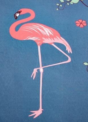 Комплект постельного белья фламинго (двуспальный-евро)6