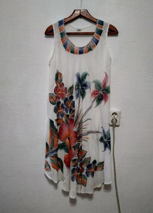 """Легчайшее платье """" цветочная """" большого размера1"""