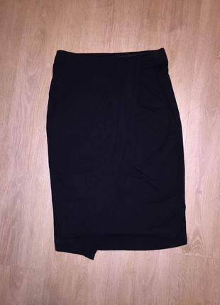 Оригинальная юбка-карандаш kappahl с запахом