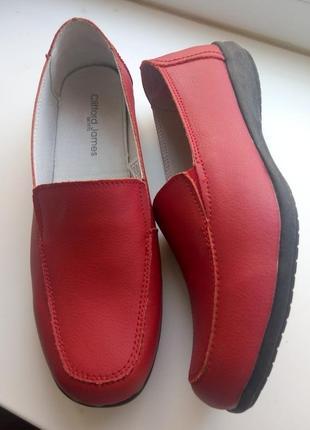 Жіночі шкіряні мокасини / туфлі clifford james