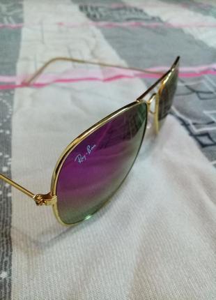 Солнцезащитные женские очки капельки авиаторы со стеклами хамелеон