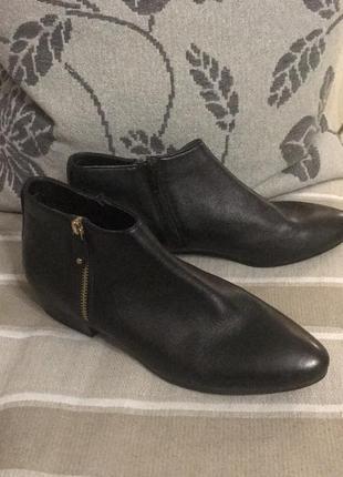 Ботинки полусапожки кожа 5th avenue, новые!1