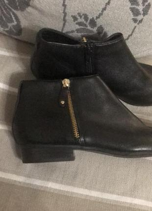 Ботинки полусапожки кожа 5th avenue, новые!2