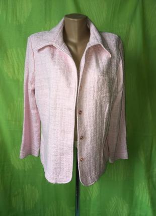 Розовый пиджак лён 54 р