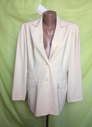 Удлиненный пиджак блейзер cappuccino 50 p
