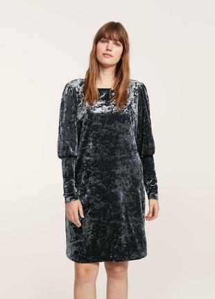 Струящееся платье из бархата mango 50-52