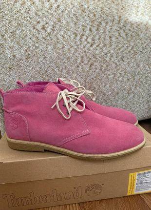 Кожаные ботинки timberland - оригинал с коробкой,размер 401 фото