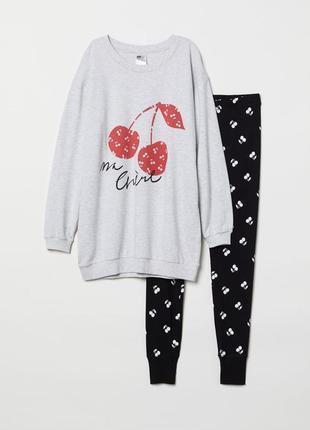 Новая пижама h&m, костюм для дома, кофта свитшот и леггинсы