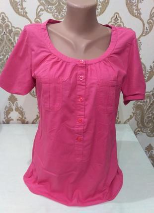 Тоненькая хлопковая блуза, рубашка размер s
