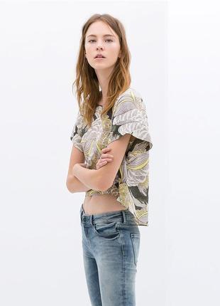В наличии блуза zara тропики в цветочный принт zara zara