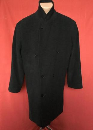 Кашемировое пальто в елочку 52 р